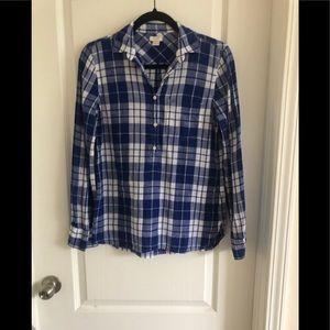 ❤️ 3/20 J Crew EUC blue flannel